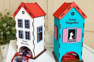 красивые цветные деревянные домики для чая чайных пакетиков с надписью заказать недорого в беларуси с доставкой