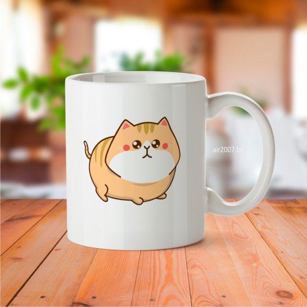 кружка толстый котик