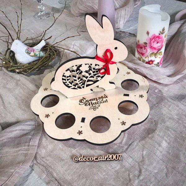 подставка для яиц пасхальный кролик купить недорого с доставкой