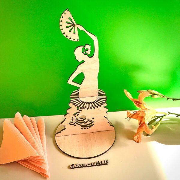 Салфетница деревянная девушка с веером балерина с платьем из салфеток купить с Минске с доставкой по Беларуси недорого