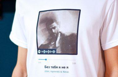 футболка с песней музыкальным треком и обложкой альбома и кодом спотифай купить с доставкой по беларуси